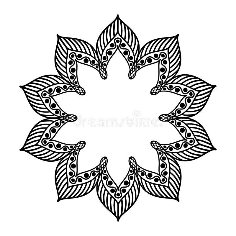 Oriental decorative mandala frame royalty free illustration