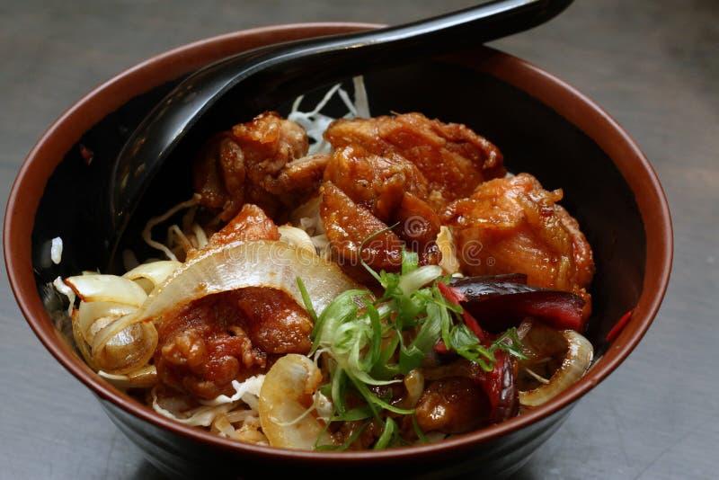 Oriental Delicacy - Chicken Karaage Don stock image