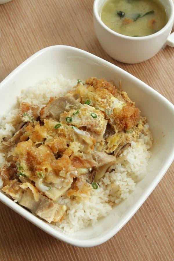 Oriental Delicacy - Chicken Katsu Don stock photography