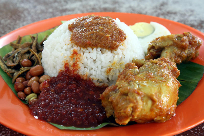 Oriental Delicacy - Nasi Lemak stock photos