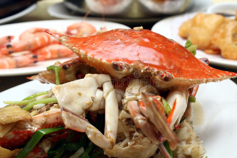 Oriental Delicacy - Seafood Meal royalty free stock image