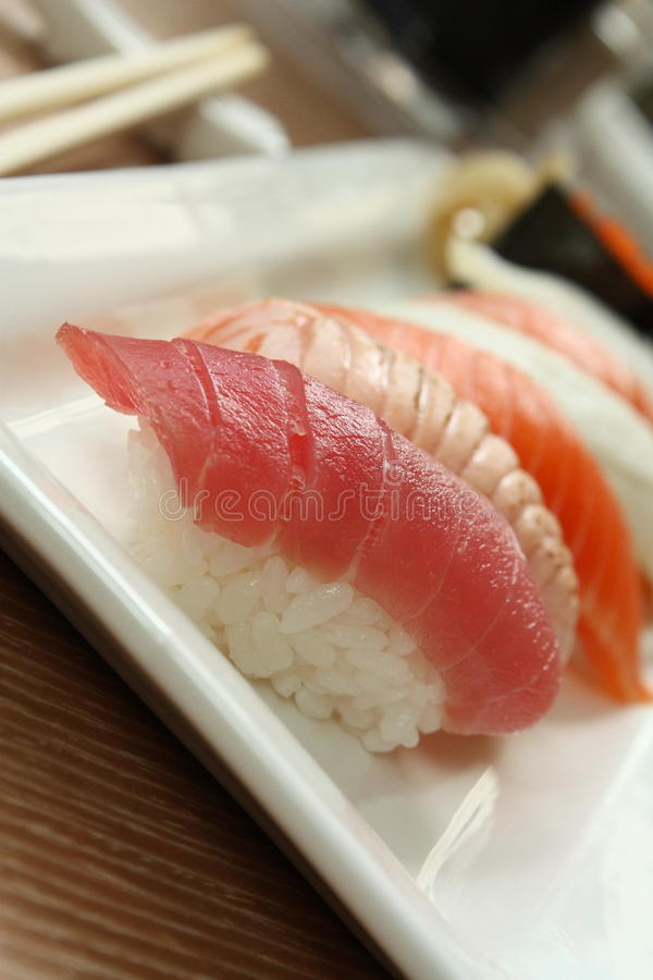 Oriental Delicacy - Sushi royalty free stock photos