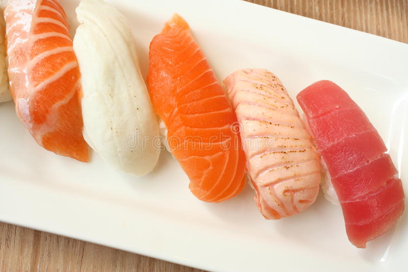 Oriental Delicacy - Sushi royalty free stock images