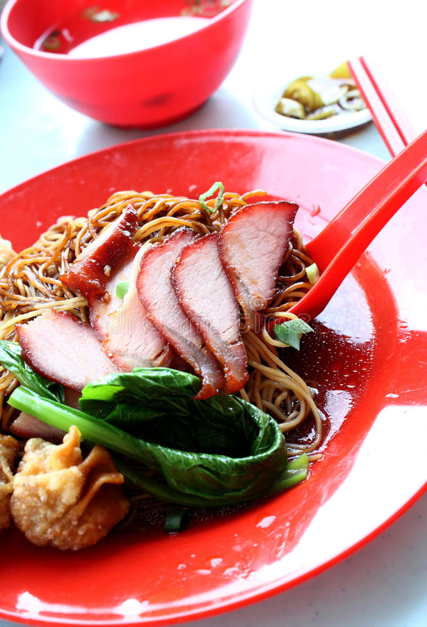 Oriental Delicacy - Wan Tan Noodles royalty free stock photography