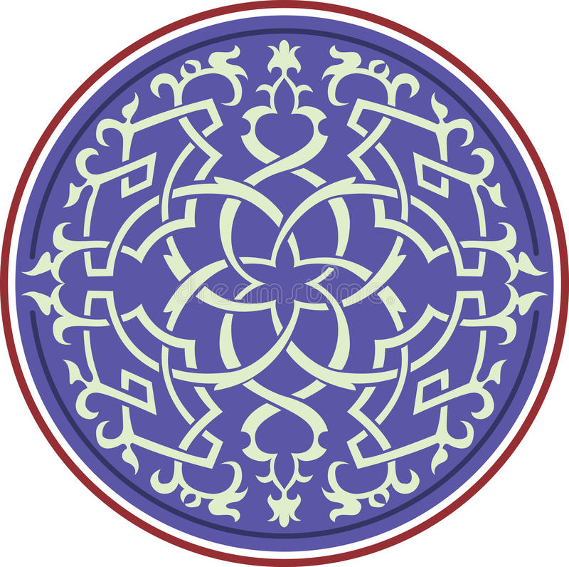 Oriental design element royalty free illustration