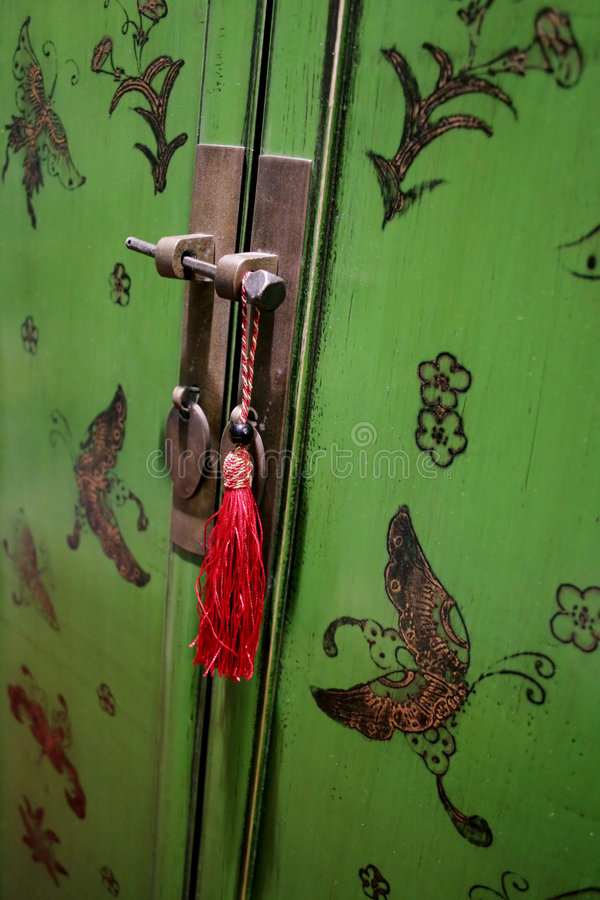Download Oriental door stock image. Image of furniture, asian, decorate - 615061