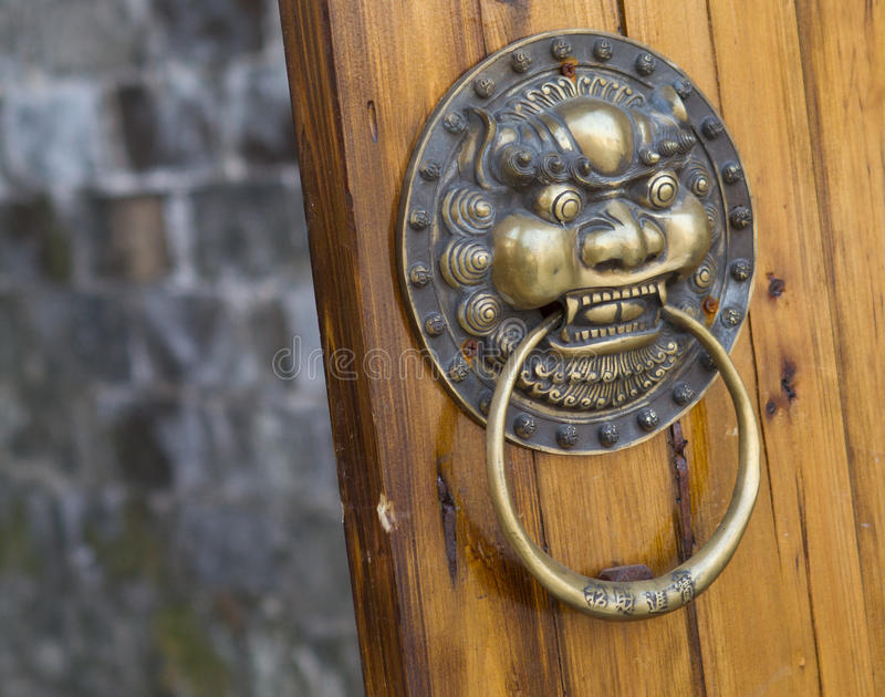 Oriental door knob stock images