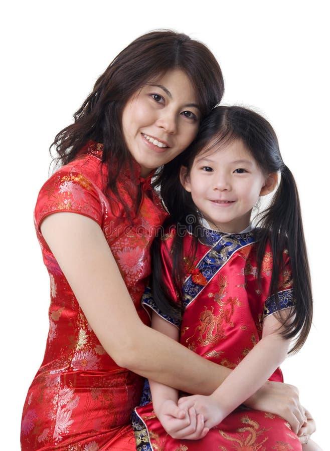 Oriental family royalty free stock photos