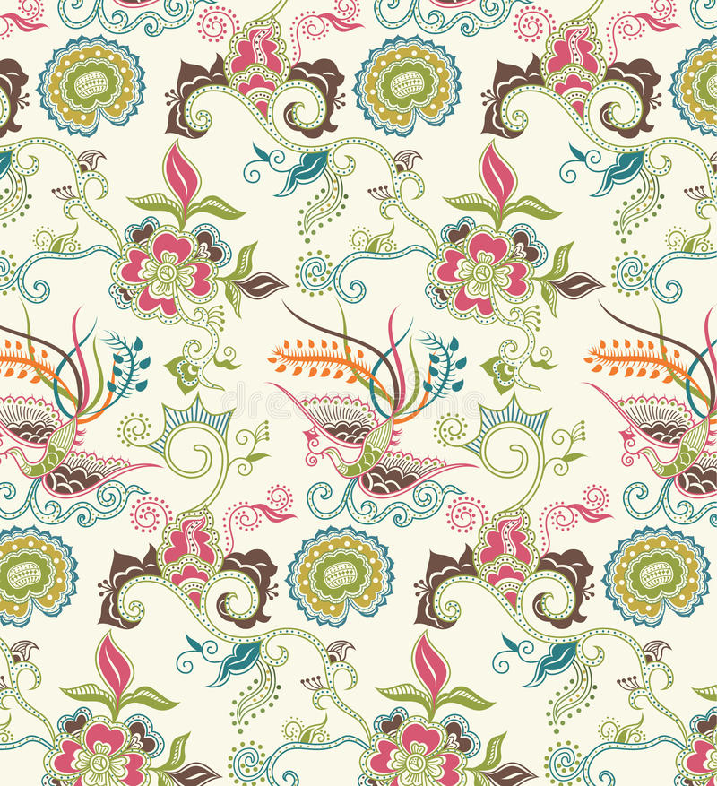 Free Oriental Floral And Bird Pattern 1 Royalty Free Stock Image - 11250356
