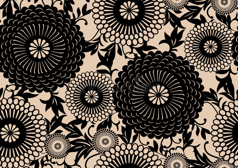Oriental floral pattern royalty free illustration