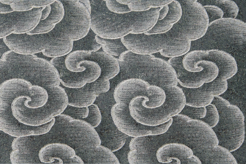 Oriental flower pattern. Oriental style flower pattern on a wall royalty free stock images