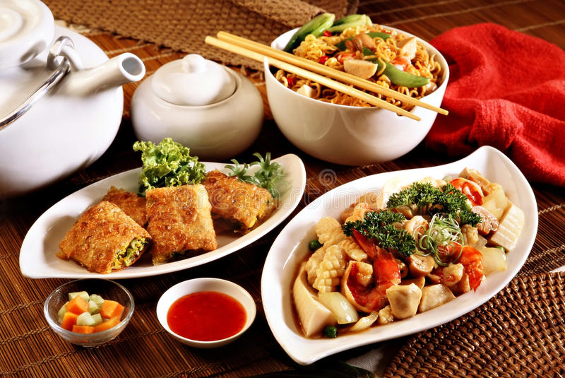 Oriental food stock image image of isolated china for Academy of oriental cuisine