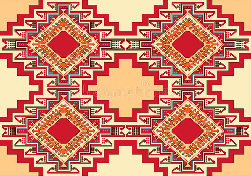 Oriental geometric carpet vector stock illustration