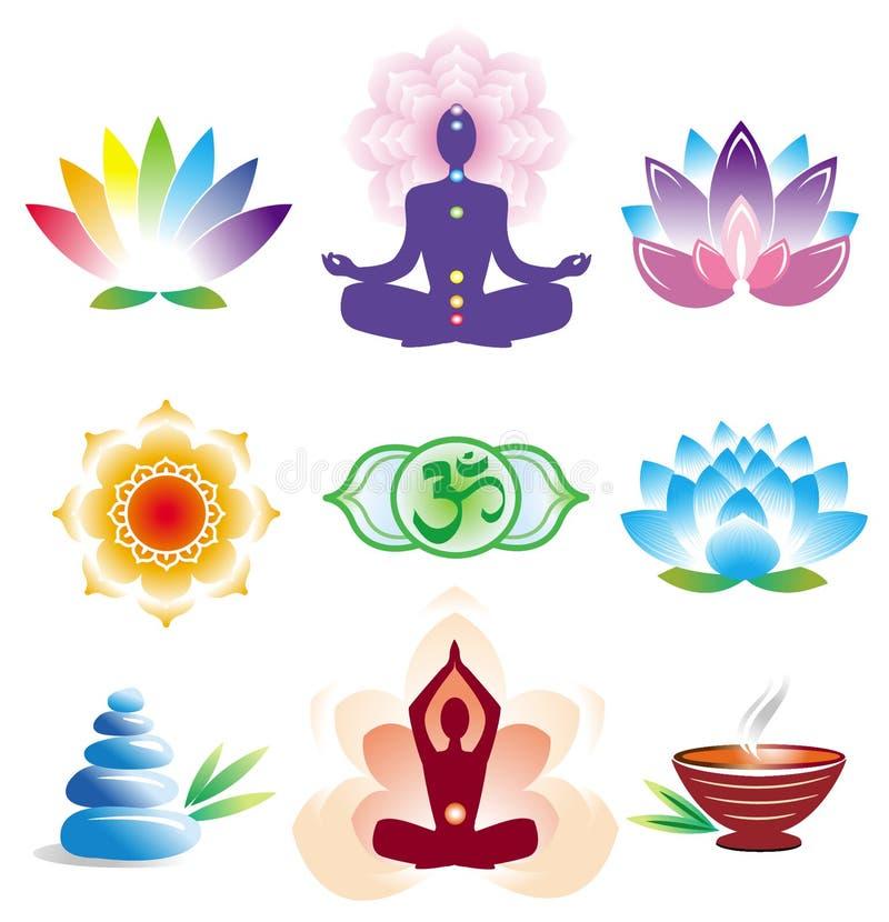Oriental icons set vector illustration