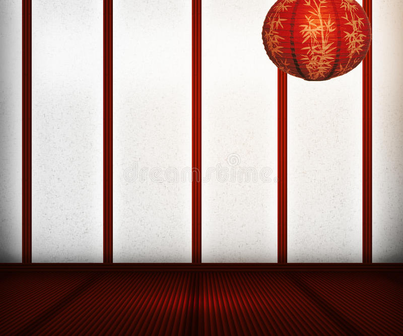 Oriental Interior stock illustration