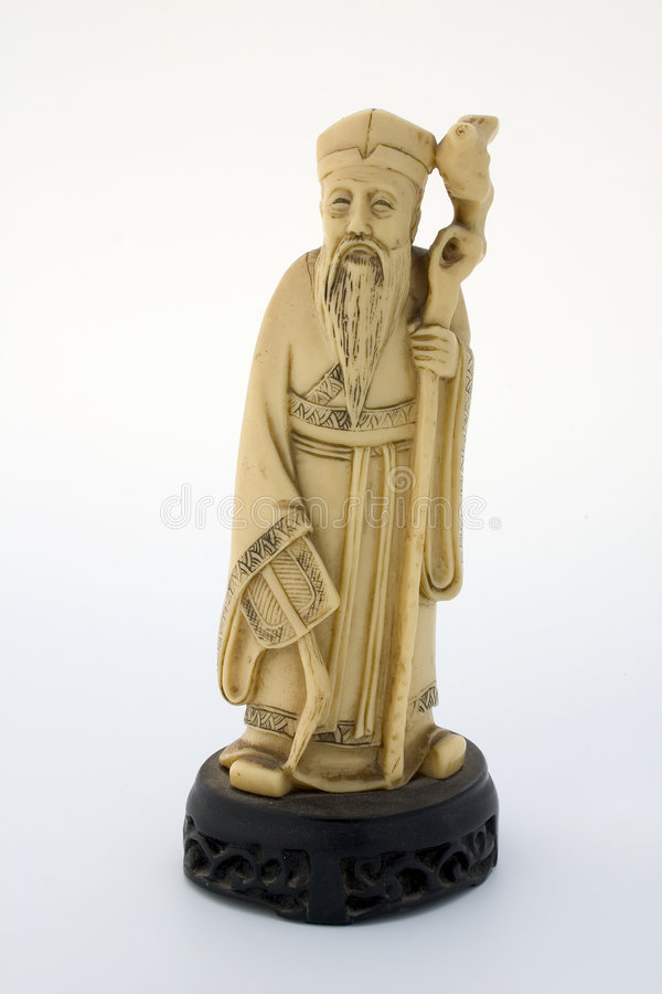 Download Oriental Ivory Statuette Stock Image - Image: 1421651