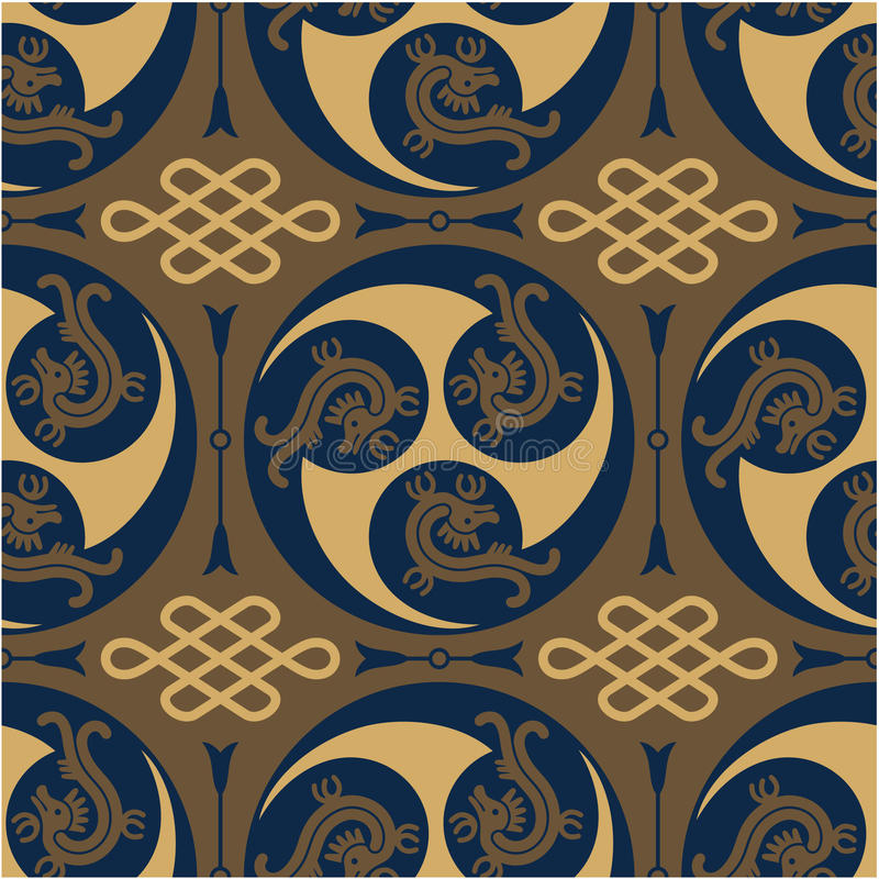 Download Oriental - Japanese - Authentic Seamless Pattern Stock Image - Image: 25340961