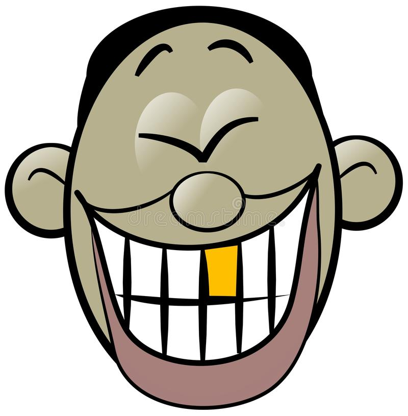 Oriental man laughing hysterically vector illustration