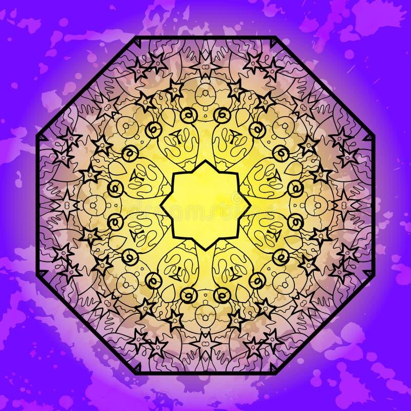 Oriental Mandala Motif Stock Photos