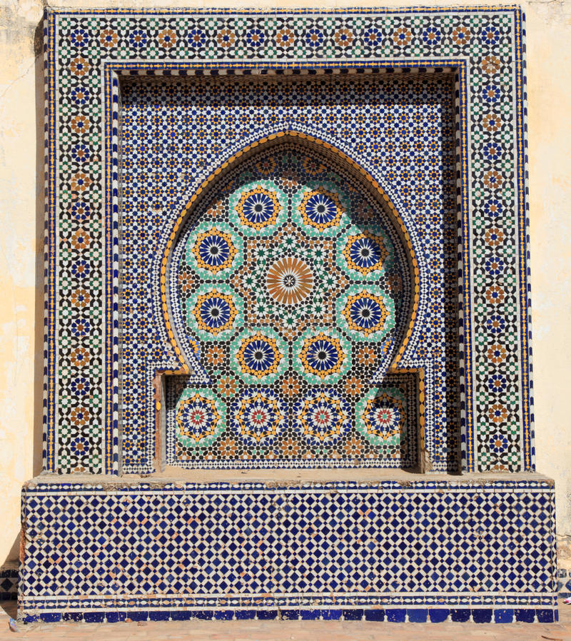 Download Oriental mosaic in Morocco stock image. Image of geometry - 32455033