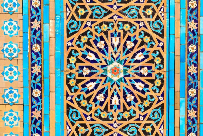 Oriental mosaic pattern stock photography