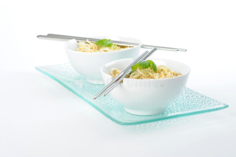 Oriental Noodles and Broth stock images
