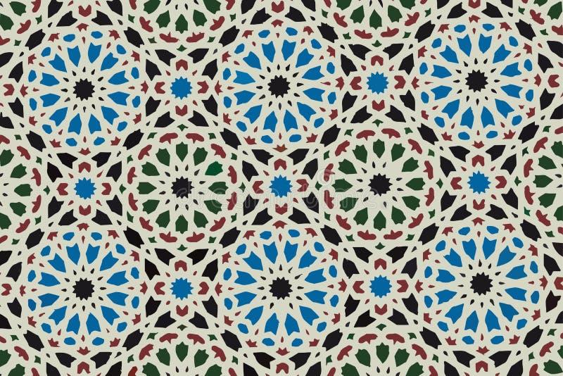 Oriental ornament. Arab mosaic. Beautiful traditional circular oriental pattern royalty free stock photography