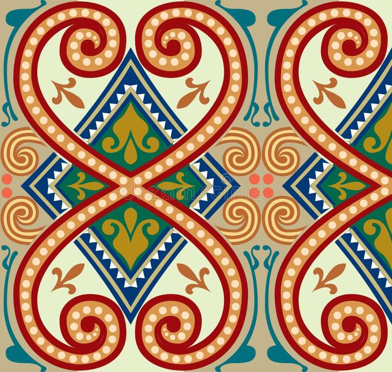 Oriental ornament pattern royalty free illustration