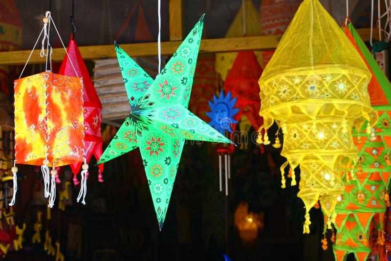 Oriental paper lantern stock images