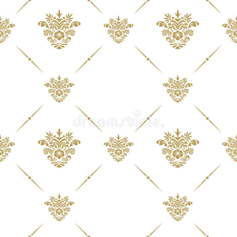 Oriental pattern with arabesque royalty free illustration