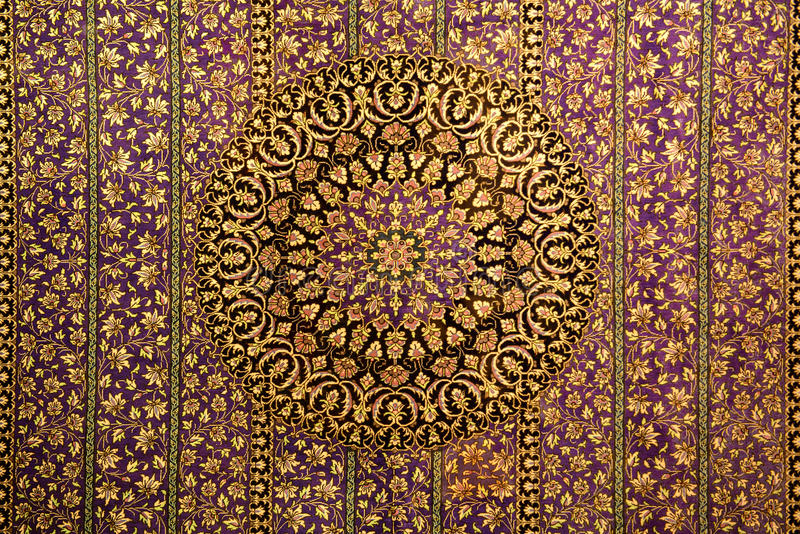 Oriental pattern ornament for carpet stock photography