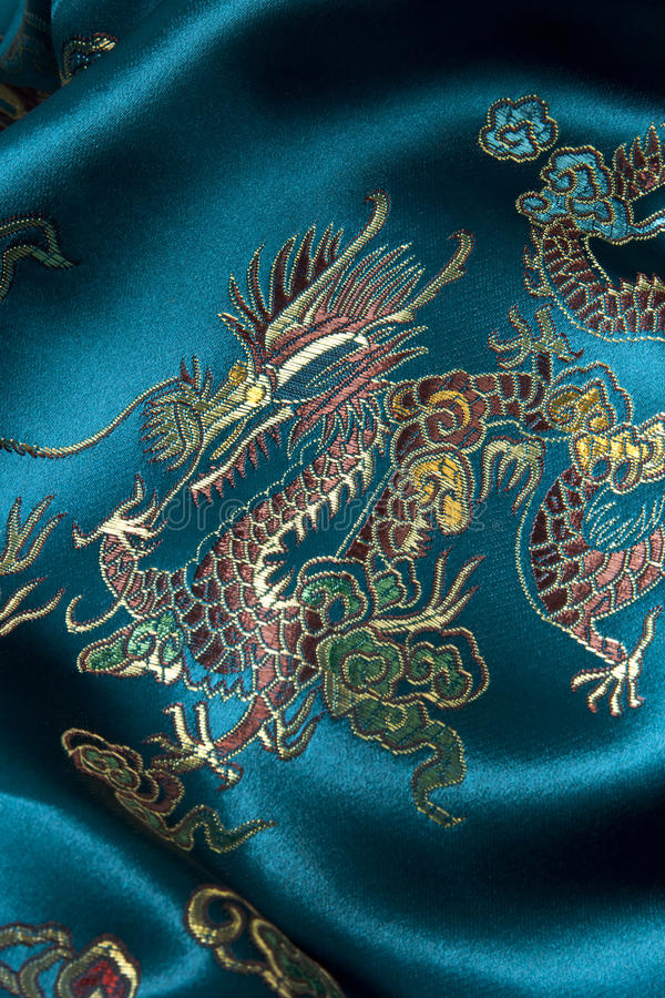 Download Oriental Pattern On Silk Fabric Stock Photo - Image: 14051352