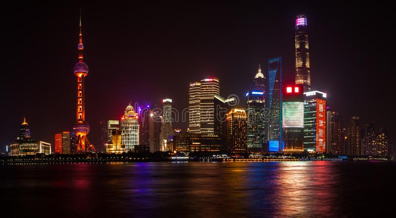 The Oriental Pearl Radio and Television Tower stock photography