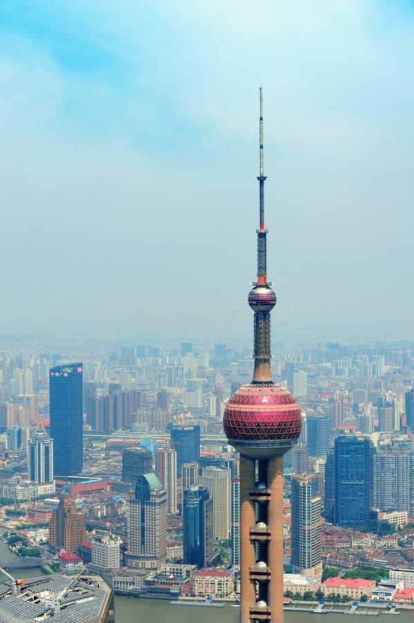 Oriental Pearl Tower stock photos