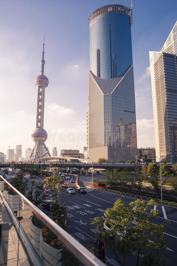 Oriental Pearl Tower. Evening Shot of Oriental Pearl Tower, Shanghai, China royalty free stock images