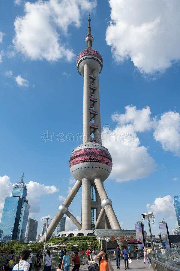 The Oriental Pearl Tower in Shanghai, China. royalty free stock photography