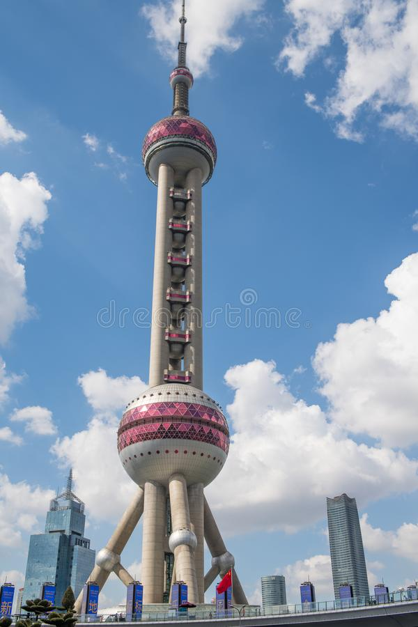 The Oriental Pearl Tower in Shanghai, China. royalty free stock photo