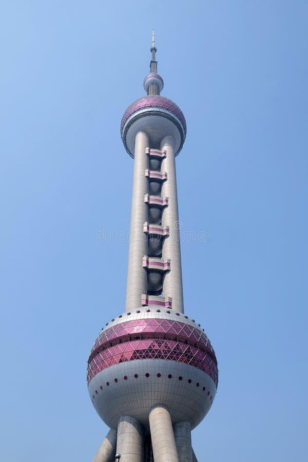 Oriental Pearl Tower in Shanghai. The landmark Oriental Pearl Tower in Lujiazui Financial District in Shanghai, China royalty free stock image