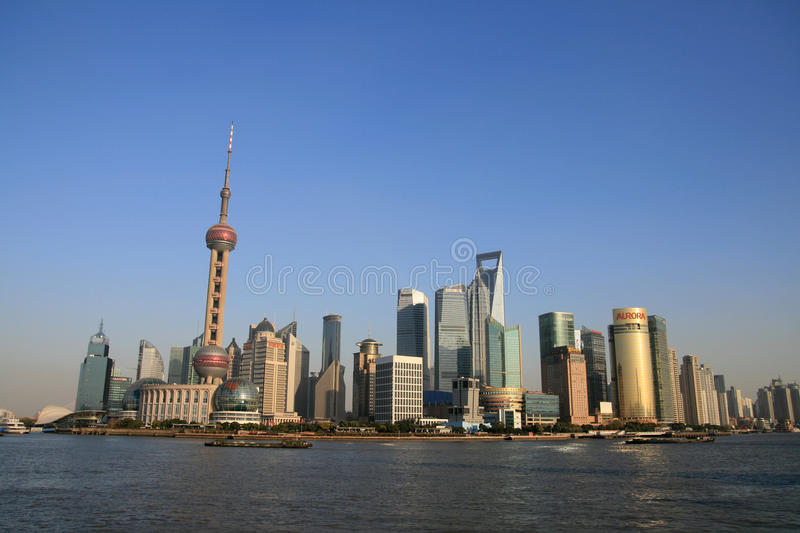 The Oriental Pearl TV Tower Of Shanghai royalty free stock photography