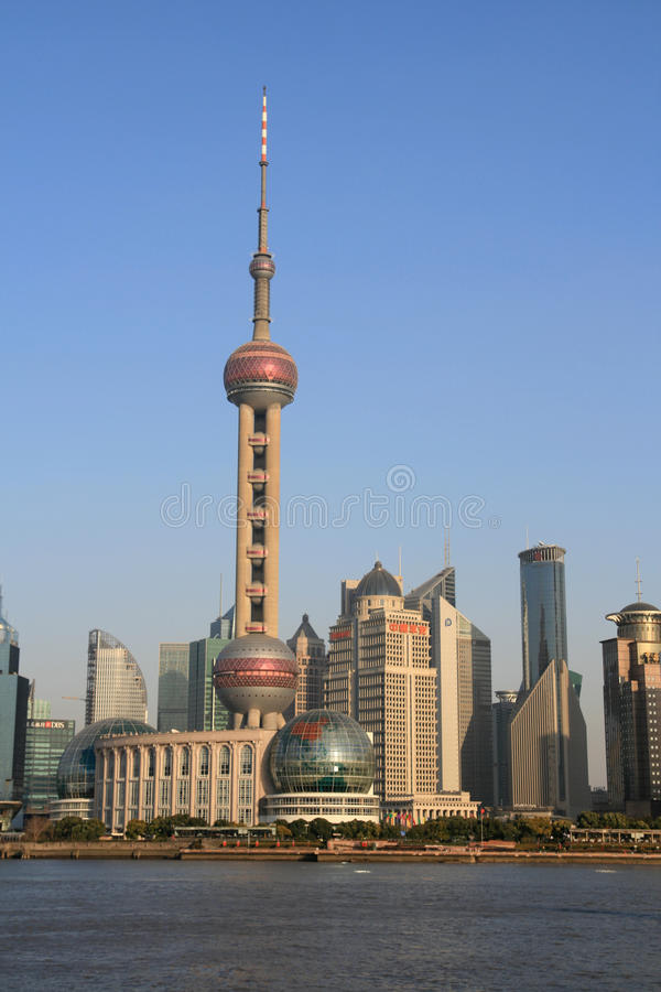 The Oriental Pearl TV Tower Of Shanghai stock photos