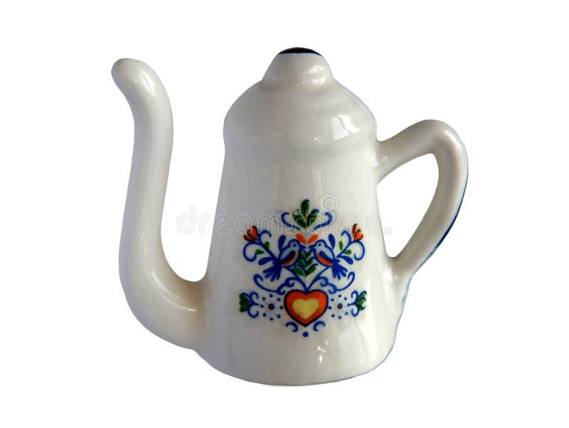 Oriental porcelain coffee pot stock image