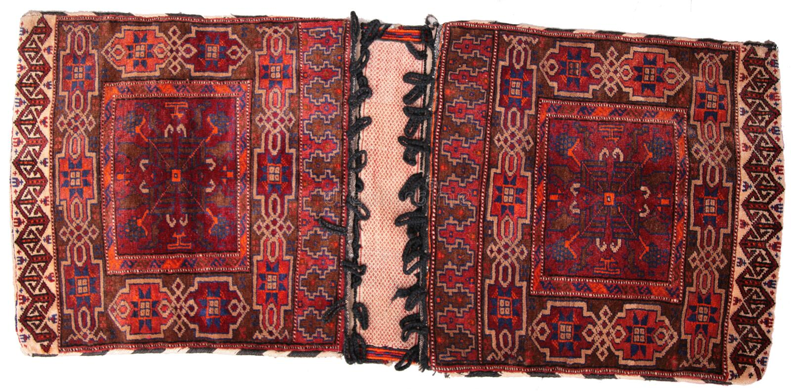 Oriental pouch carpet stock photography