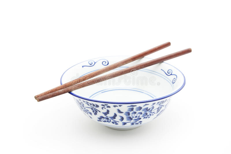 Download Oriental Round Bowl With Chopsticks Stock Photo - Image of style, white: 49863626