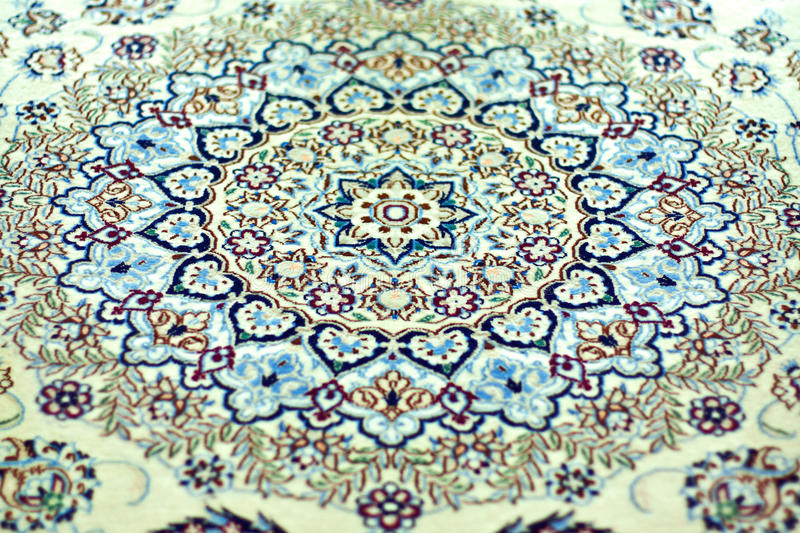 Oriental Rug - Symmetry Patterns. Close-up view of the patterns of an Oriental Rug stock photography