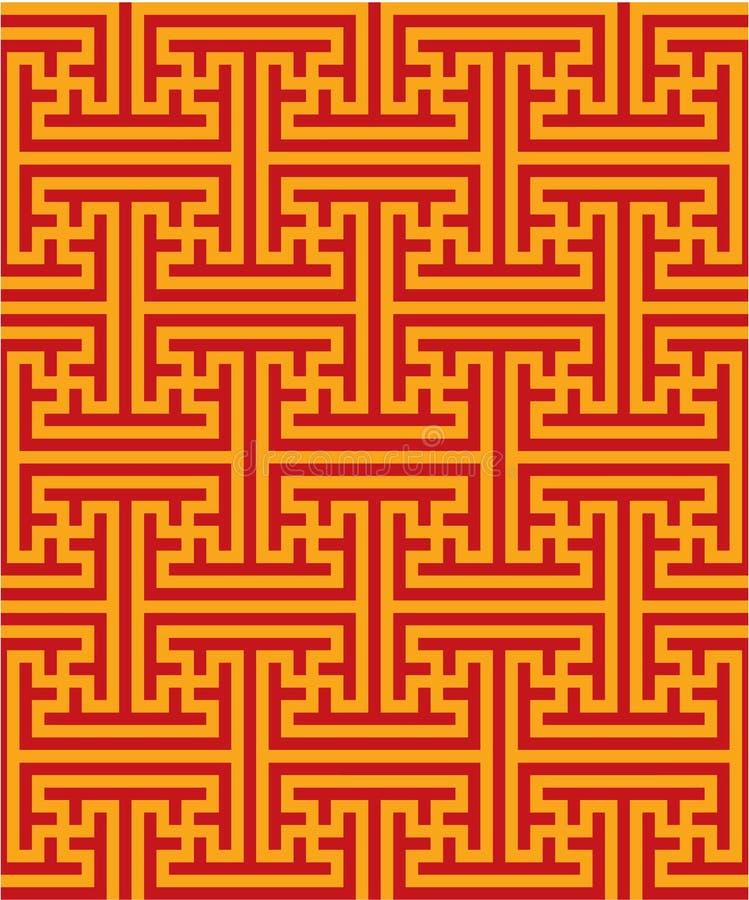 Oriental Seamless Pattern royalty free illustration