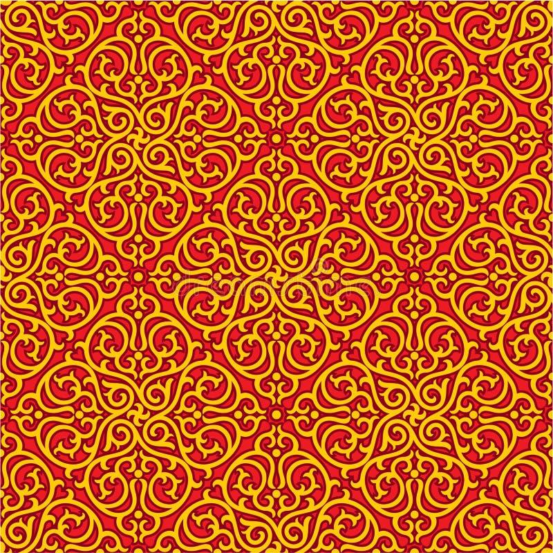 Oriental Seamless Pattern stock illustration