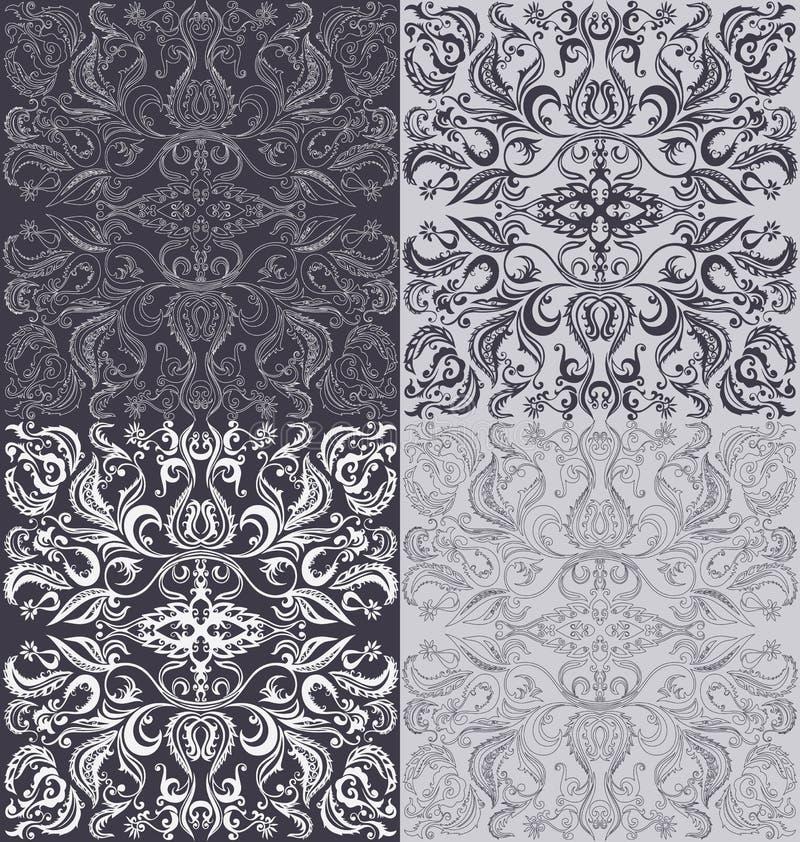 Oriental seamless pattern. Background design with floral oriental seamless pattern royalty free illustration