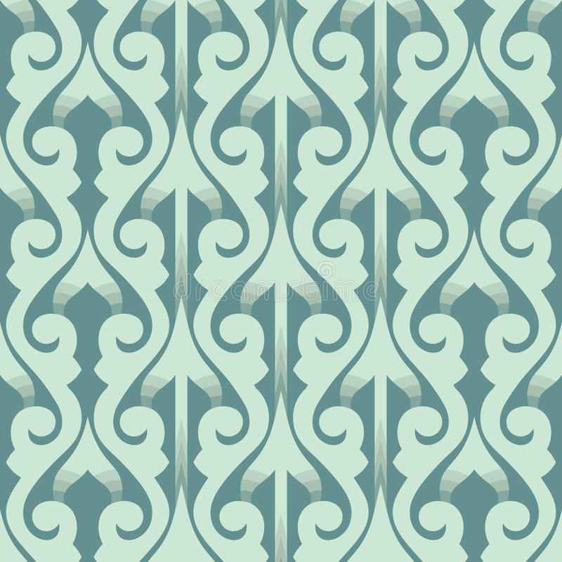 Oriental seamless pattern with 3D effect stock illustration
