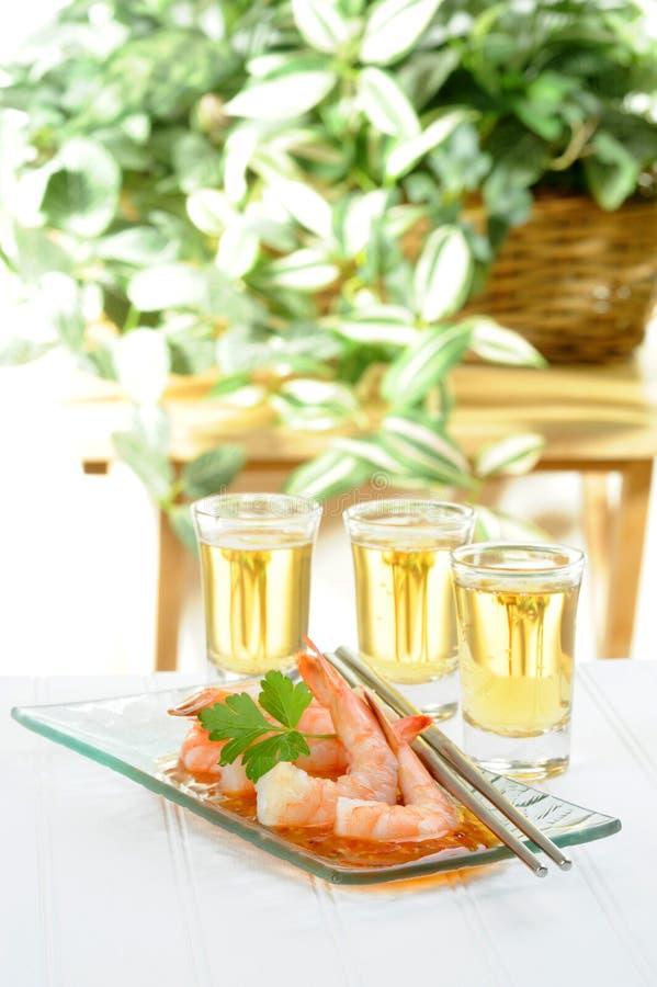Oriental Shrimp Appetizer royalty free stock photos