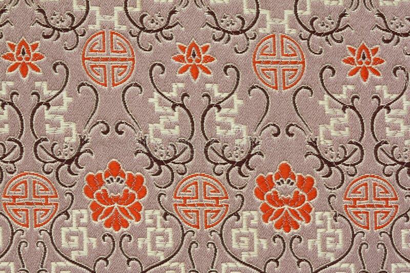 Oriental Silk Fabric Pattern. As background stock illustration